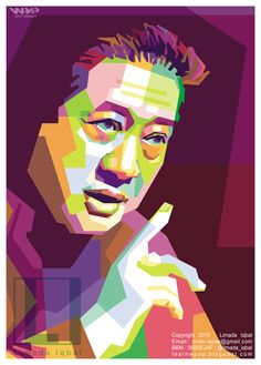 WS Rendra in WPAP by Limada Iqbal . . #wpap #illustration #popart #vector #art #corel #draw #art #artists #poem #popularart . . for order, please contact me :)