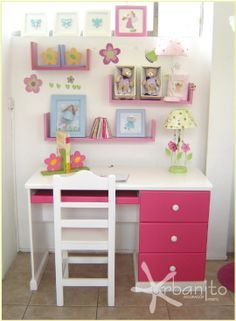 Desk For Girls Bedroom lilac desk hutch, vintage simply white | desk areas, desks and girls