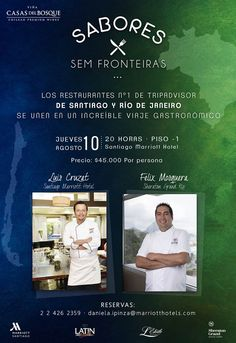 MARRIOTT SANTIAGO: Latin Grill celebrará una noche de Sabores Sem Fronteiras #SantiagoElegante_Marriott #SantiagoElegante #HotelesSantiago #LasCondes