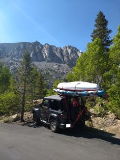 Hitchmount-Rack in the Sierras! Kayak Rack, Mojave Desert, Fish Camp, Kayak Fishing, Kayaking, Jeep, Jeeps, Kayaks, Canoe Trip