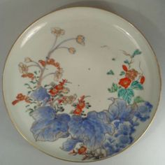 Japanese Antique Imari Porcelain  Plate with Kakiemon Style