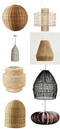 Blissful Corners: Wicker Pendant Lights || Bliss