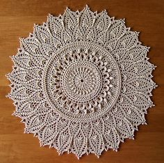 """Momentous Occasion"" doily pattern - this is probably never happening, but I love the idea of it!"