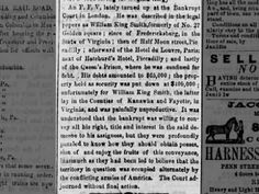 Who is William King Smith, who owned property in Kanawha but is in debtors prison in London 1863