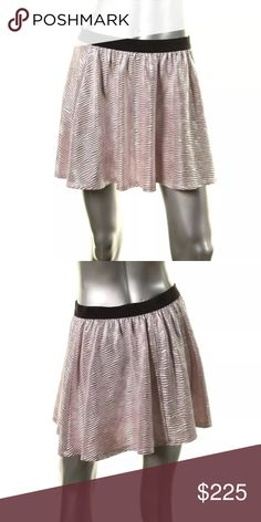 NWT💠Happening in the Present Pink Metallic Skirt Manufacturer: Happening in the Present Size: L Size Origin: US Manufacturer Color: Blush/Silver Retail: $225.00 Condition: New with tags Style Type: Mini Collection: Happening in the Present Bottom Closure: Pull On Length: Mini Total Skirt Length: 15 1/2 Inches Waist Across: 15 1/2 Inches Hips Across: 19 Inches Material: 95% Polyester/5% Spandex Fabric Type: Metallic Specialty: Textured Happening In The Present Skirts