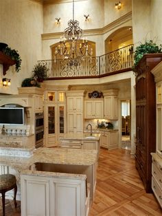 Love the balcony over the kitchen!