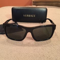 2092efc060a Versace sunglasses Gently used black Versace sunglasses! These are  technically men s sunglasses