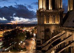 Notre Dame cathedral Notre Dame cathedral at night taken by Lucinda in Paris.