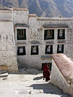 Heading out of the Depung Monastery. Lhasa, Tibet