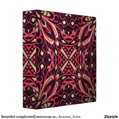 Beautiful complicatedl moroccan ornament. 3 ring binder  Moroccan ornament make interior unique and add aesthetics sense. Ornament create in oriental tradition. #Home #decor #Room #accessories #Interior #decorating #Idea #Styles #abstract