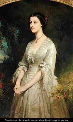 Portrait of Marie de Bonneval Duchess of Cadore - Edouard Louis Dubufe