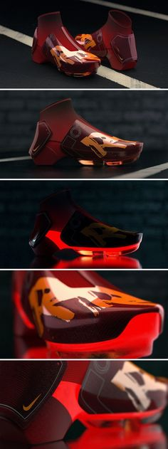Nike's developed shoes with liquid mercury in them. It's just a matter of time before they make volcano-inspired shoes too. That's what the concept RR 2030 is about.