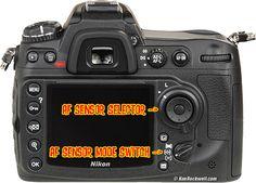 Nikon D300s Rear AF Selectors