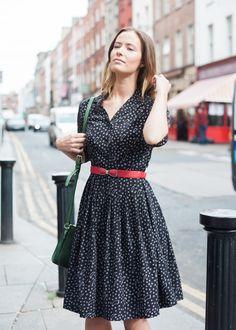 1d8d5cbd85a28 The 1950 s vintage inspired Lucille shirt dress