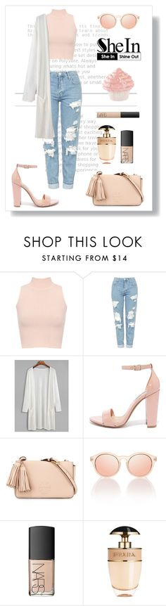 """""""Untitled #293"""" by georgia-sarantinou ❤ liked on Polyvore featuring WearAll, Topshop, Steve Madden, Tory Burch, NARS Cosmetics and Prada"""