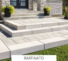 Trust us for quality interlocking pavers retaining wall blocks landscaping sto Patio Steps, Outdoor Steps, Garden Steps, Front Walkway Landscaping, Outdoor Landscaping, Landscaping Ideas, Pavers Patio, Patio Plants, Concrete Patio