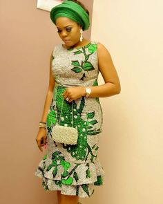 Green Color : Simple Ankara Short Gown Styles For Beautiful Ladies .Green Color : Simple Ankara Short Gown Styles For Beautiful Ladies African Fashion Ankara, Latest African Fashion Dresses, African Dresses For Women, African Print Dresses, African Print Fashion, African Attire, African Wear, African Style, Ankara Short Gown Styles