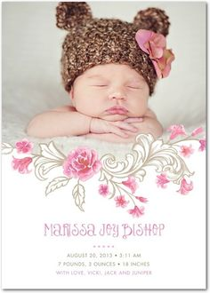 Dress up your little one in an adorable hat to match your birth announcements.