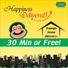Now get authentic South-Indian delicacies delivered home with Vaango's Home Delivery Service! 30 Minutes or Free! (Only available in Sohna Road, Gurgaon & GIP, Noida) Food Marketing, Delivery, Indian, Meals, Free, Meal, Yemek, Food, Nutrition