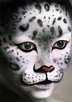 Animal Face Painting Lovetoknow - If You Enjoy Creating These Animal Faces You Might Want To Try Branching Out Into Other Fantasy Makeup Looks This Is Another Great Way To Refine Your Body Art Skills Get Some More Inspiration From Leopard Makeup, Animal Makeup, Cat Makeup, Leopard Face Paint, Nice Makeup, Zombie Makeup, Animal Face Paintings, Animal Faces, Face Painting Designs