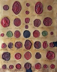 Wax Seals - Bernard Maisner. These are SO cool, I wish we still did this. No need for envelopes