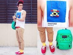 Ketchup & Mustard (by David Guison) Lego Camera, Pantone Blue, Womens Fashion, Fashion Trends, Male Fashion, Style Icons, Lego Necklace, Camera Necklace, Street Style