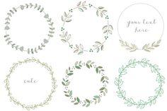 Handdrawn Laurel Wreath Clip Art by FIELDandFOUNTAIN on Creative Market