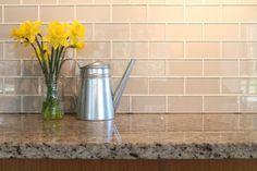 Weekend Project - Backsplash: Off White Glass Subway Tile