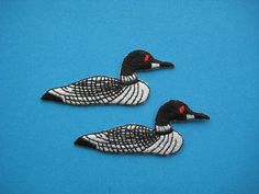 2 pcs Iron-On Embroidered applique  Condition: BRAND NEW  Dimension: approx. 2 3/8 inch x 1 inch    International shipping by airmail from Hong Kong.