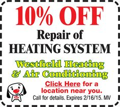COUPON: 10% OFF Heating System Repair!