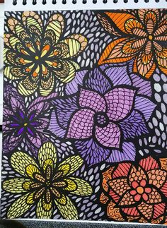ColorIt Calming Doodles Volume 1 Colorist Marla Theodoro Adultcoloring Coloringforadults Adultcoloringpages Doodle