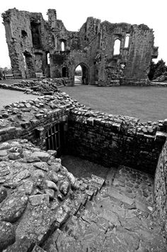 Ruined but still beautiful: 15th century Raglan Castle by jobeckytobin, via Flickr