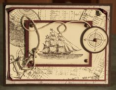 Handmade Birthday or Father's Day Card, Stampin Up The Open Sea.