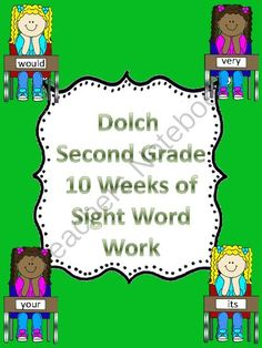 Dolch Second grade 10 Weeks of Sight Word Work from My Kinder Garden on TeachersNotebook.com (63 pages)  - This packet uses the Dolch Second Grade word list in order of highest frequency. There are four words from third grade list as I group them in sets of five. This packet can be used in class as daily work or can be sent home for homework as a weekly packet
