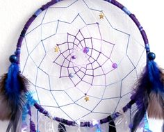Cosmic Galaxy Native Woven Dreamcatcher by eenk on Etsy
