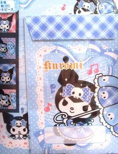 L133 japan made sanrio KUROMI letter set 8 sheets 4 envelopes 5 stickers