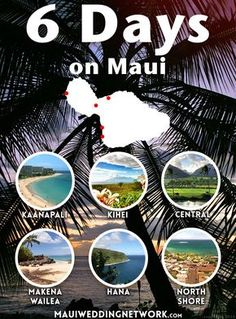Maui is consistently ranked one of the top places in the world for honeymoons and destination weddings. Here's a 6 day itinerary for your trip. Maui Hawaii, Kauai, Kaanapali Maui, Visit Hawaii, Lahaina Maui, Kahului Maui, Hawaii Life, Maui Luau, Hawaiian