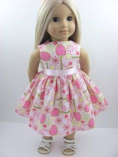 Pink Tennis Sports  Doll Dress for the American Girl Doll