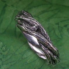 TWISTED TWIGS Wedding Ring  This band made in by BandScapes, $130.00