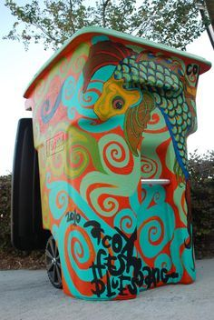painted bins - Google Search