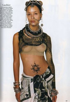 STEVEN MEISEL SHOT JEAN PAUL GAULTIER'S SS94 COLLECTION FOR THE MARCH 1994 ISSUE OF VOGUE