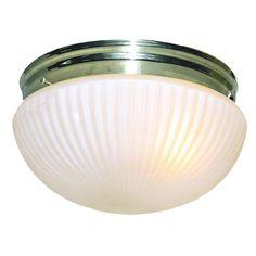 Woodbridge Lighting Basic 1-light Polished Brass Prism Glass Flush Mount