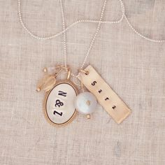 Custom Charm Necklace | Pearl Personalized Gifts Intercontinental Gold - Three Sisters Jewelry Design