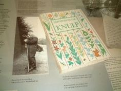 At Maulbronn Bookstore  Colorful Knulp book with a photo of German wanderer in 19 century. A model of Knulp.