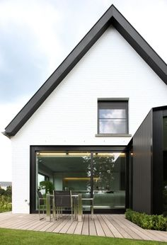All about eaves Project: - Volt Architecten Modern Exterior, Exterior Design, Residential Architecture, Architecture Design, House Extensions, Scandinavian Home, Modern Farmhouse, Building A House, House Plans