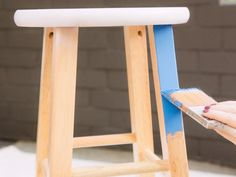 Turn a Wooden Stool Into a Party Beverage Station   Do it yourself ideas and projects