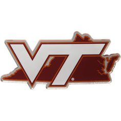 1037814c8 Virginia Tech Hokies State Shape Acrylic Metallic Auto Emblem College  Football, Football Shop, State