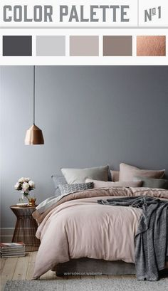 The Best Bedroom Color Ideas – Home Bunch – An Interior Design & Luxury Homes Blog Bedroom Color Palette. Copper and muted colors in bedroom results in a winner color palette. #Bedroom #Colorpalette #mutedcolors Wiley Valentine http://www.wersdecor.website/2017/05/01/the-best-bedroom-color-ideas-home-bunch-an-interior-design-luxury-homes-blog/