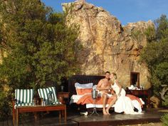 our amazing outcrop bedroom at Kagga Kamma Out Of Africa, Landscape Architecture, South Africa, Traveling, Rooms, Spaces, Weddings, Bedroom, Amazing