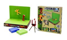 StikBots are stylish poseable characters used to make your own animation films with lots of different backgrounds.